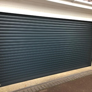 large black garage door