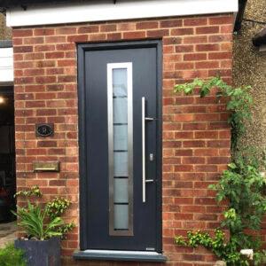 new black front door