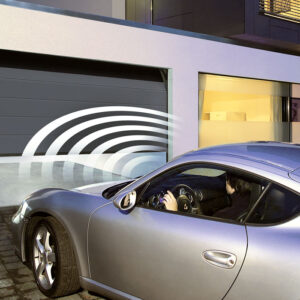 automatic garage door with car going in